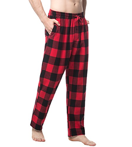 LAPASA Men s Pyjama Bottoms Long Lounge Pants - 100% Cotton - Checked Flannel  Plaid Pants aae593c94