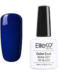 Elite99 Vernis A Ongles Semi Permanent Bleu Serie Gel Polish UV LED Nail Art Manucure 10ml 008