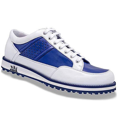 Lambda Golf Torino Bianco Blu, Blu (Bianco), 40 EU