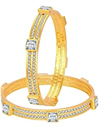 Sukkhi Incredible Gold Plated American Diamond Bangle For Women