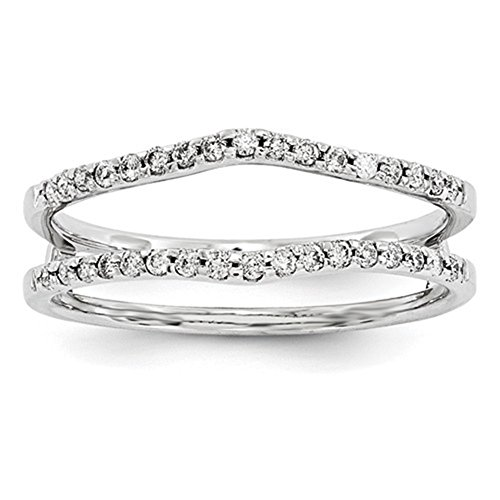 Solitaire Enhancer simulierten Diamanten Ring Guard Wrap 14 K Weiß vergoldet Sterling Silber Hochzeit Band -