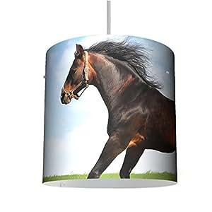 Suspension au design original avec motif :  chevaux