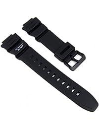 Casio Ersatzband Uhrenarmband Resin Band schwarz AE-2000 WV-200 AE-2100