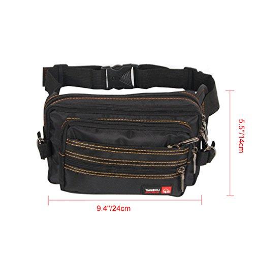 Vbiger Bolso de cintura para mujer Bolso de cintura para gran capacidad Bolso de cintura multifunción para riñonera