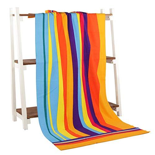 HAHAJY StrandtuchMicrofiberBadetuchfür Erwachsenereagiertegedruckt Strandtuch Trocknen Bad, Regenbogen, 70 x 140 cm