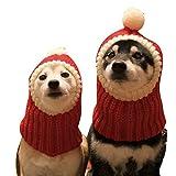 Legendog Weihnachten Haustier Hut Winter Warm Stricken Hund Deckel Hund Mütze zum Welpen Kätzchen