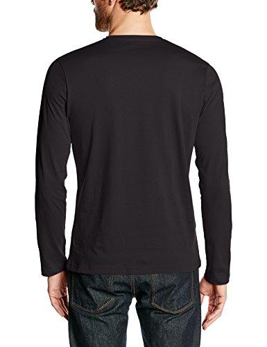 Pepe Jeans London Herren Sleeve Top Eggo Long Schwarz (999 Black)
