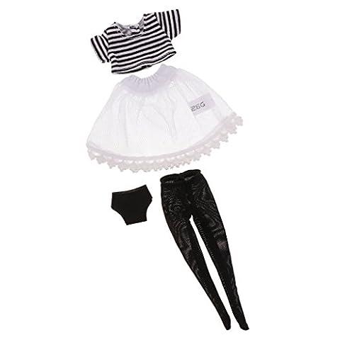 Gazechimp 1/6 Scale Top T-shirt+Bas+Robe+Underwear Pour 12'' Blythe Poupée Vêtement