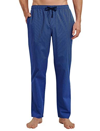 Schiesser Herren Mix & Relax Hose Lang Schlafanzughose, Blau (Royal 819), Large (Herstellergröße: 052)
