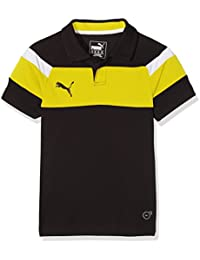 PUMA polo para niño Spirit II, Black-Cyber Yellow, 152, 654660 37