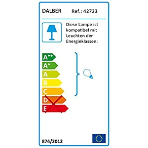Dalber Map – Lámpara Regleta 3 Luces Mapa, E27, Multicolor