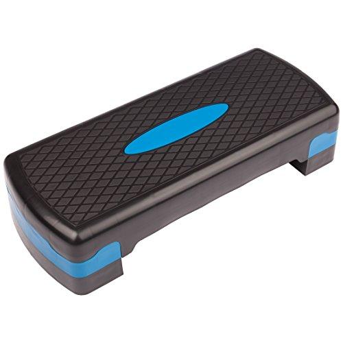 Ultrasport Step de aeróbic/step/stepper de aeróbic, altura regulable, azul