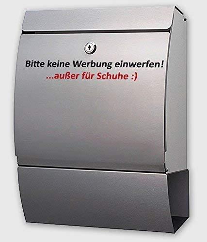 Lustiger Aufkleber/Sticker Spruch ***Bitte keine Werbung einwerfen! .außer für Schuhe :)*** - (Größen und Farbauswahl)