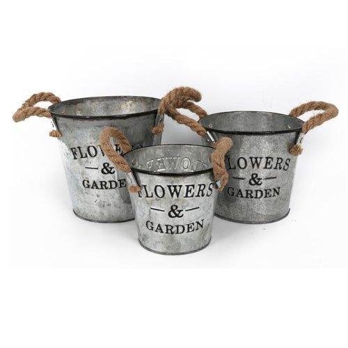 vintage-stile-set-di-3-fiori-giardino-metallo-zincato-vaso-da-fiori-manici-in-corda