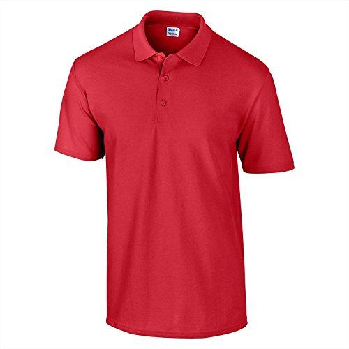 "Gildan DryBlend""¢ pique knit polo Red"