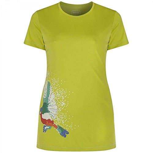 Regatta Womens/Ladies Fingal Quick Dry Active Graphic T Shirt Lime Zest