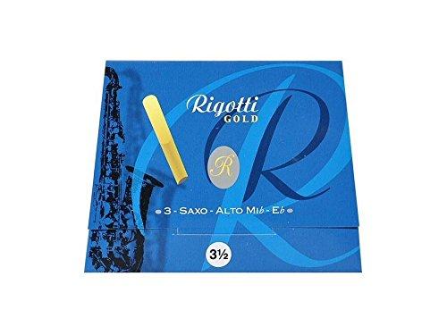 Alto-saxophon 3 Schilf (Rigotti Gold-Alt Saxophon-Blätter - Bb - 3 Pack - Reed Größe 1,5 bis 4,5 (3.5))