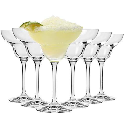 Krosno Margarita-Gläser Cocktailgläser   Set von 6   270 ML   Avant-Garde Kollektion   Perfekt für Zuhause, Restaurants und Partys   Spülmaschinenfest Margarita Glas