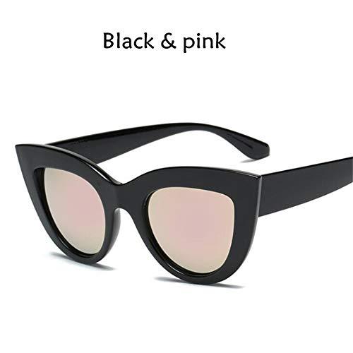 RZRCJ Katzenauge Frauen Sonnenbrille Getönte Farblinse Männer Vintage Shaped Sun Glasses Weibliche Brillen Blaue Sonnenbrille (Lenses Color : E)