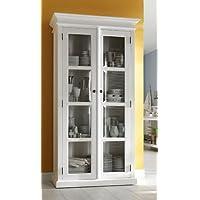 Albion bianco verniciato mogano sala da pranzo mobili glazed display cabinet