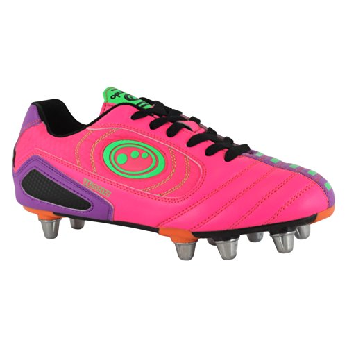Velocity SG - Chaussures de Rugby Rose/Pourpre Rose - Rose/violet
