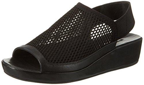 Ecco Damen Tabora 45 Offene Sandalen mit Keilabsatz, Schwarz (51052BLACK/Black), 39 EU