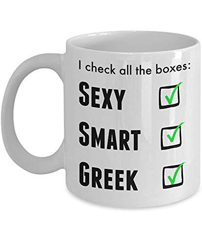 Lustige griechische Stolz-Kaffeetasse für Männer oder Frauen - ich bin stolze Neuheits-Liebes-Schale