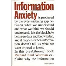 Information Anxiety by Richard Saul Wurman (1989-01-21)