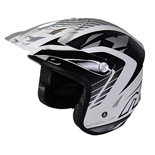 MISJIA Helm Klettern Offroad-Helm Motorradhelm Vollwand Gesicht Four Seasons Universal,B,XL(61cm~62cm)