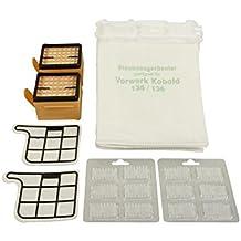 12bolsas de aspiradora Microvlies + 2filtro HEPA + 2filtros protectores del motor + 12x aroma para Vorwerk–Kobold 135/136/135sc/VK135y VK136