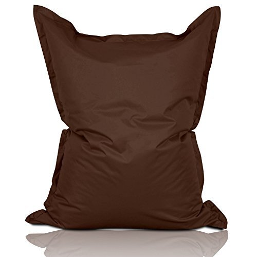 Lumaland Luxury Riesensitzsack XL Sitzsack 270l Füllung 120 x 160 cm Indoor Outdoor Braun