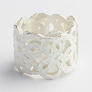 Bandring Kreise Breiter Ring Silber ausgefallene Ringe Silberring Schmuck