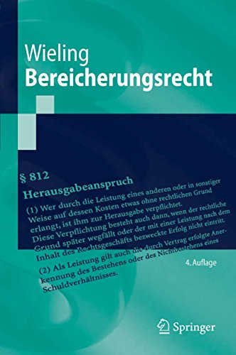 Bereicherungsrecht (Springer-Lehrbuch)
