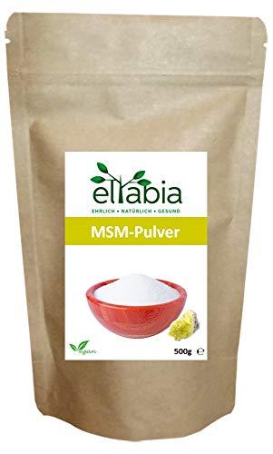Glucosamin Creme Für Den Körper (eltabia MSM Pulver 500g Großes Pack 99,9% reiner Organischer Schwefel Methylsulfonylmethan Lebensmittelqualität)