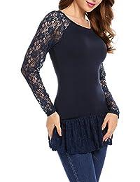 a166ba6ddc15 Beyove Damen Langarmshirt Volants Bluse Tops Shirts geschichtete Loose  Sweatshirt Oberteil Tops