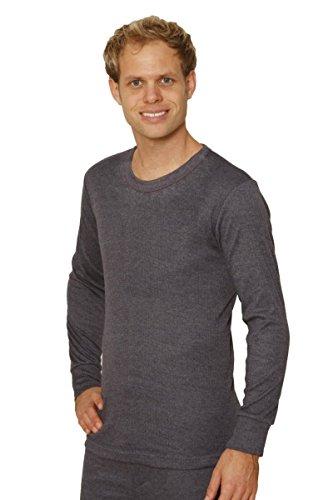 OCTAVE® Herren Thermo-Unterwäsche lange Ärmel Shirt/Weste/Top XXXXL anthrazit (Sleeve Lange Unterwäsche Long Thermal)