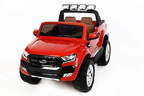 RC Auto kaufen Kinderauto Bild 3: RIRICAR Ford Ranger Wildtrak 4X4 LCD Luxury, Elektro Kinderfahrzeug, LCD-Bildschirm, rot - 2.4Ghz, 2 x 12V, 4 X Motor, Fernbedienung, 2-Sitze in Leder, Soft Eva Räder, Bluetooth*