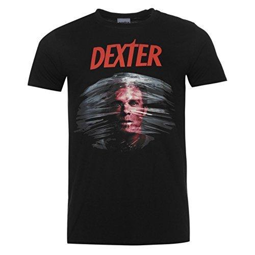 Dexter - Serie DE TV Poster - Oficial Camiseta para Hombre - Negro, Medium