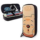 Astuccio carino Winnie The Pooh con doppia cerniera, in poliuretano, grande capacità, astuccio portapenne