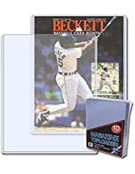 BCW 9 X 11.5 X 5 mm - Beckett Magazine Topload Holder (10 Holders/Pack) Baseball, Football, Basketball, Hockey, Golf, Single Sports Cards Top Load - Sportcards Card Collecting Supplies by BCW