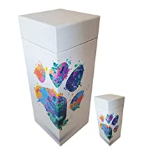 ScatterPod Rainbow PawPrint Scattering Cremation Urn - Pet & Keepsake Twin Pack