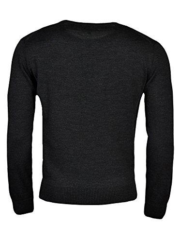hajo Polo & Sportswear Herren Pullover mit Baumwoll-Innenseite Anthrazit