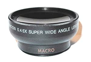 Maxsimafoto - 37mm conversion lens 0.45x Wide Angle with Macro for Sony, Olympus, JVC and others.