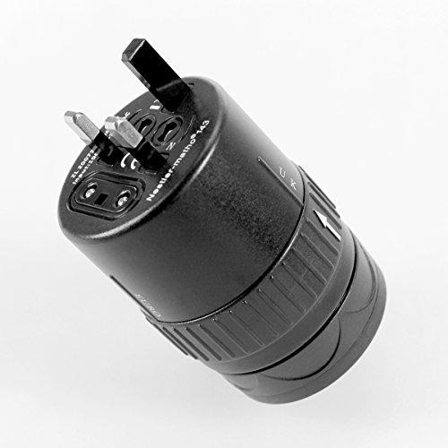 STYLETEC universal Reiseadapter / Reisestecker mit USB-Ausgang + inkl. Schutztasche (schwarz)
