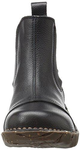 El Naturalista N158 Soft Grain Yggdrasil, Stivali Chelsea Donna Nero (Black)
