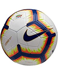Nike Pallone Strike Serie A, Calcio Unisex Adulto, Bianco/Bright Mango Royal Blue, 5