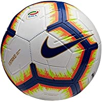 Nike Pallone Strike Serie A, Calcio Unisex Adulto, Bianco/Bright Mango Royal Blue, 5