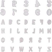 NBEADS 36 Piezas de Troqueles de Metal con Letras del Alfabeto A-Z para Manualidades, álbum