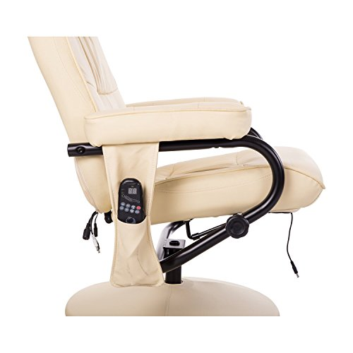 Homcom Massagesessel inkl. Hocker Creme