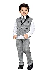 AJ Dezines Kids Party Wear Suit Set for Boys (151_GREY_5)